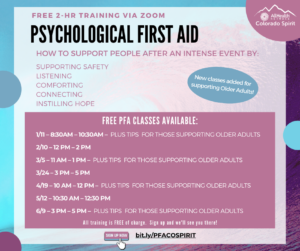 Sign Up for one of our Free PFA Training Classes